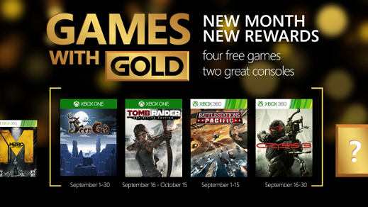 Games with Gold September