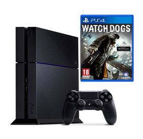 PS4 500GB Console + Watch_Dogs