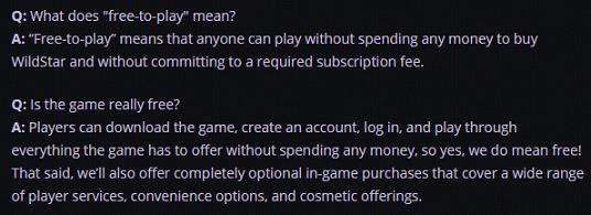 Wildstar FAQ
