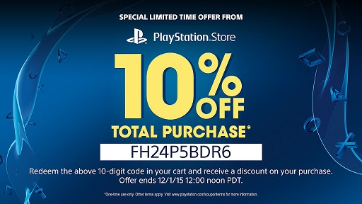 10% Off US PlayStation Store Coupon