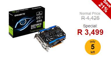 Gigabyte GeForce GTX 960 OC Edition 4GB