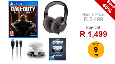 PS4 Accessory Bundle + Call of Duty: Black Ops 3