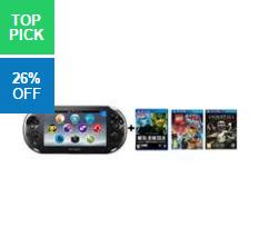 PS Vita Console + 3 Games