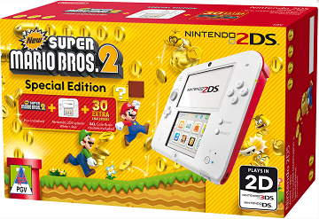 Nintendo 2DS Console (Red & White) + New Super Mario Bros 2