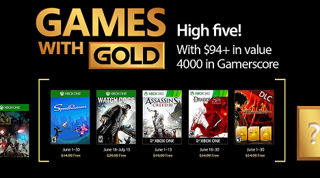 Games with Gold for June 2017