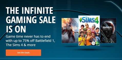 Origin's Infinite Gaming Sale