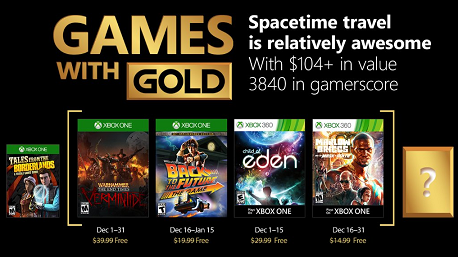 Games With Gold For December 2017