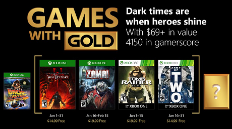 Games With Gold For January 2018