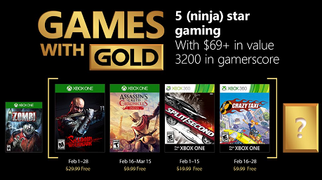 Games With Gold For February 2018