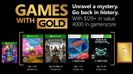 Games With Gold For April 2018