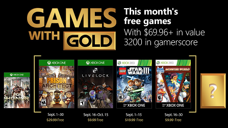 Games With Gold For September 2018