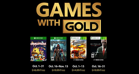 Games With Gold For Ocotber 2018