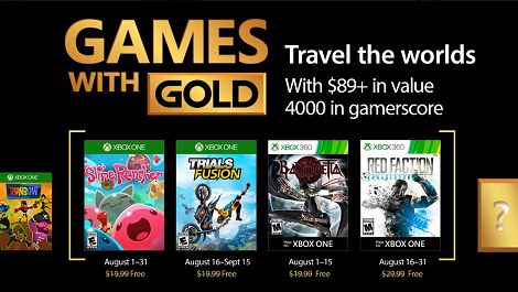 Games With Gold For August 2017