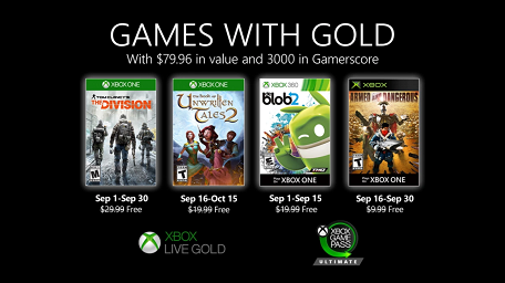 Games With Gold For September 2020